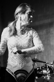 Poppet (Molly Raney) performing at The Red Museum in Sacramento, CA (12/8/2017). Photo Cam Evans