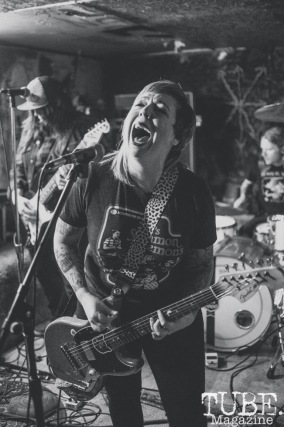 Year of the Fist performing at Casa de Chaos, in Sacramento Ca. December 2017. Photo Heather Uroff.