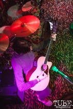 Robert McDowell of Manchester Orchestra performing at Powerhouse Pub in Folsom, CA (1/17/2018). Photo Cam Evans