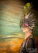 Elaborate Masquerade Mask, Art Mix Masquerade, Crocker Art Gallery, Sacramento, CA January 11, 2018, Photo by Daniel Tyree