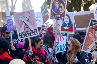 Faces in the Crowd, Southside Park during the Women's March, Sacramento CA. January 2018. Photo Joey Miller