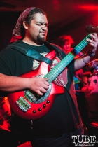 Bryant of What Rough Beast performing at Cafe Colonial in Sacramento for Instagon's 25th anniversary show (2/2/2018). Photo Cam Evans