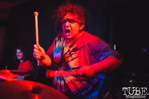 Jesse of What Rough Beast performing at Cafe Colonial in Sacramento for Instagon's 25th anniversary show (2/2/2018). Photo Cam Evans