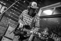 Guitarist Dylan Jarman of Shotgun Sawyer, Shine, Sacramento, CA. February 2, 2018. Photo Mickey Morrow