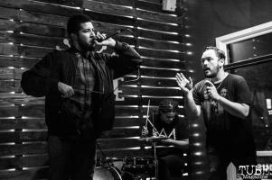 Tyler playing with Anthony Giovanini of Sparks Across Darkness, Shine, Sacramento, CA. February 2, 2018. Photo Mickey Morrow