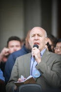 Mayor Steinberg, The March For Our Lives, Sacramento CA, March 24, 2018. Photo Daniel Tyree