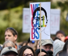 We Call BS, The March For Our Lives, Sacramento CA, March 24, 2018. Photo Daniel Tyree