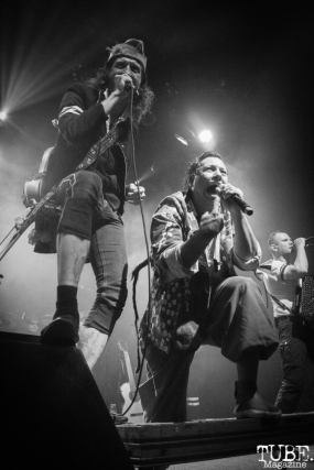 Vocalist Eugene Hütz and Pedro Erazo of Gogol Bordello, The Fillmore, San Francisco, CA. February 27th, 2018. Photo Anouk Nexus