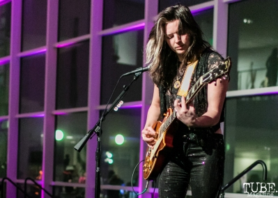 Guitarist Whitney Petty of Thunderpussy, ArtMix Fierce, Crocker Art Museum, Sacramento, CA. March 8th, 2018. Photo Mickey Morrow