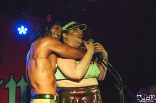 Anthony Rivera and Chacha Burnadette performing at Holy Diver in Sacramento, CA (4/25/2018). Photo Cam Evans.