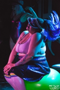 Chacha Burnadette performing at Holy Diver in Sacramento, CA (4/25/2018). Photo Cam Evans.