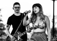 Amber DeLaRosa vocalist of Flourish, First Festival, Tanzanite Park, Sacramento, CA, May 6th, 2018, Photo by Mickey Morrow
