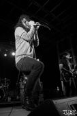Cory Lockwood vocalist of A Lot Like Birds, First Festival, Tanzanite Park, Sacramento, CA, May 6th, 2018, Photo by Anouk Nexus