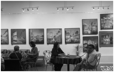"Patris Studio and Gallery reception for ""The Broadway Rain Series"" in Sacramento CA. May 4th, 2018. Artwork featured by Patris Miller. Photo Benz Doctolero"