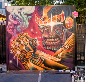 Thanos by Franceska Gamez and Shaun Burner, Concerts in the Park, May 4th, 2018, Sacramento, CA, Photo by Daniel Tyree