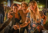 Local artist Athena Alber, local icon Dancing Kenny and local artist Melissa Uroff