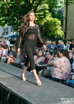 Jasmine Navarro wearing clothes from Richard Hallmarq Clothing, Dress Up-Wine Down, Capitol Avenue, Sacramento, CA. May 12th, 2018. Photo Mickey Morrow