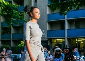 Amyah wearing clothes from Richard Hallmarq Clothing, Dress Up-Wine Down, Capitol Avenue, Sacramento, CA. May 12th, 2018. Photo Mickey Morrow