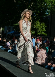 Alexandra Biscotti wearing clothes from Heart Boutique, Dress Up-Wine Down, Capitol Avenue, Sacramento, CA. May 12th, 2018. Photo Mickey Morrow