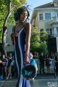 Cheyenne Summerville wearing clothes from LadyBuggz Boutique, Dress Up-Wine Down, Capitol Avenue, Sacramento, CA. May 12th, 2018. Photo Mickey Morrow