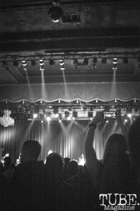 The crowd dancing to The Fratellis at The Fillmore, in San Fransisco CA. April 30, 2018. Photo Heather Uroff.