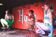 Indiana Bones Burlesque Dance Class recitals at Holy Diver for the Grrrly Show in Sacramento, CA (6/22/2018). Photo Cam Evans