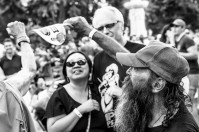 Crowd at Concert in the Park. Cesar Chavez Park, Sacramento, CA. July 27, 2018. Photo by Mickey Morrow.