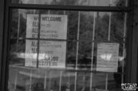 A sign outside the Sacramento Bicycle Kitchen, Sacramento, CA. July 14, 2018. Photo Benz Doctolero