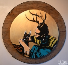 Raul Meija Wounded Deer: A Frida Kahlo inspired art show at Love is a Verb, Sacramento, CA, July 6, 2018, Photo by Daniel Tyree