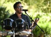 Carlos Mario Kandria sings at Festival de Frida, Sacramento, CA, July 8, 2018, Photo by Daniel Tyree