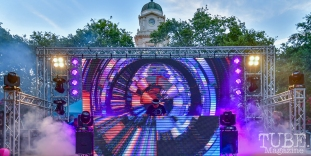 The Crystal Method, Concerts in the Park, Cesar Chavez Park, Sacramento, CA. July 27, 2018. Photo by Daniel Tyree