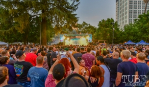 Closing out the 2018 Concerts in the Park season with a bang, Concerts in the Park, Cesar Chavez Park, Sacramento, CA. July 27, 2018. Photo by Daniel Tyree