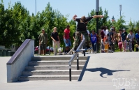 Matt Beaton skating at the Mather AM Sacramento CA. June 2018. Photo Joey Miller