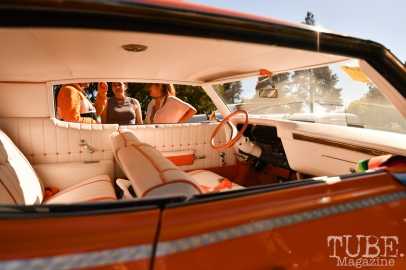 The '70 Orange Crush Interior, Festival en la Calle, Southside Park, Sacramento, CA September 16, 2018, Photo by Daniel Tyree