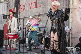 The Mini Hahas performing at The Red Museum for Red Ex Vol. 2 in Sacramento, CA. September 22, 2018. Photo Cam Evans.