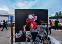 Salty Redhead live painting, Work in Progress, Tin Can Studios, Sacramento, CA, September 30, 2018. Photo by Daniel Tyree