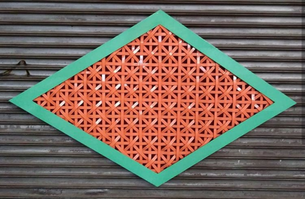 Spray paint on cardboard 2018.