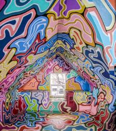 Painted attic located in Sacramento Ca. 2018